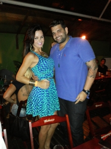 Thalita Zampirolli com o produtor musical Rafael Oliveira, Rafael é produtor de grandes artistas nacionais.