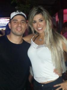 O assessor Fabiano de Abreu com a sua amiga Fernanda Girão.